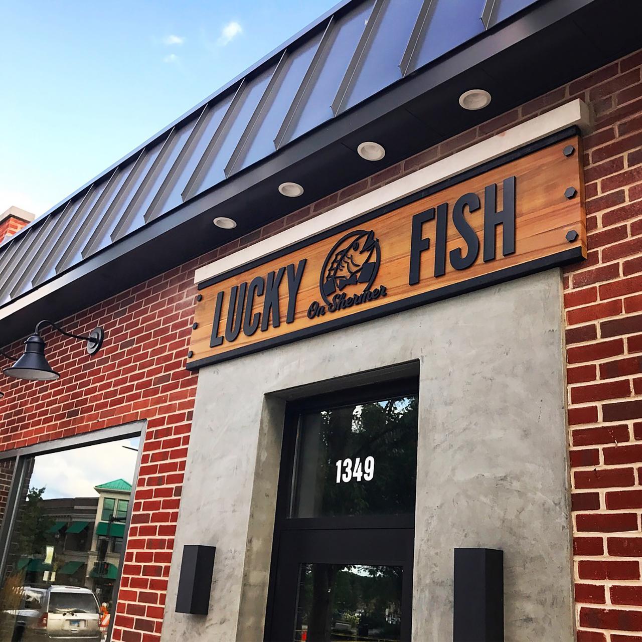 Restaurant, fish, lucky fish, branding, spatial design, signage, logo, graphic design, design, jselz, chi, Chicago, suburbs, foodie